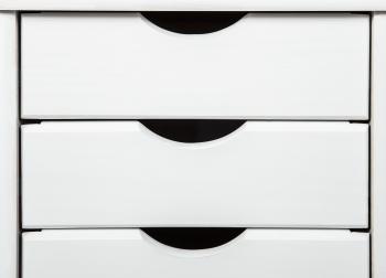 Rollcontainer Simon für Schreibtisch weiß - Interlink Schubladenschrank