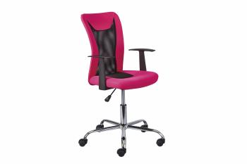 Kinder Drehstuhl Donny pink - Interlink Schreibtischstuhl