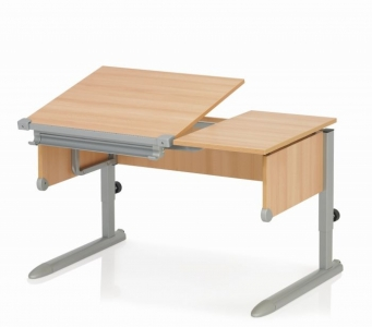 Kettler Schreibtisch Comfort II - Buche / Silber