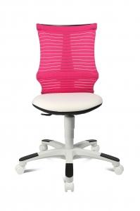 Topstar Kinder Drehstuhl S´neaker - Schreibtischstuhl weiss - rosa