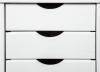Rollcontainer Simon für Schreibtisch weiss - Interlink Schubladenschrank