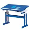 Interlink Kinder Schreibtisch Paco - Schülerschreibtisch blau - weiss höhenverstellbar