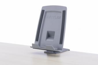 Kettler Tablethalter - Handyhalter grau für Schreibtische