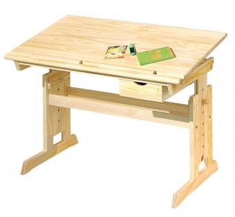 Interlink Kinder Schreibtisch Julia - Schülerschreibtisch natur höhenverstellbar