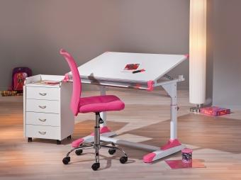 Interlink Kinder Schreibtisch 2 Colorido weiß- Schülerschreibtisch höhenverstellbar