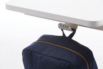 Flexa Taschenhaken, Beutelhaken für Schreibtisch aus Metall