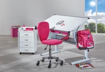Mega Angebot 3er SET pink - Schreibtisch - Rollcontainer - Drehstuhl