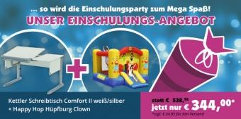 Angebot Kettler Schreibtisch Comfort II und Happy Hop Hüpfburg
