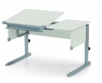 Kettler Schreibtisch Comfort II - Weiß / Silber