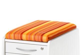 Sitzkissen - Orange gestreift - für Sit on und Logo Trio Box